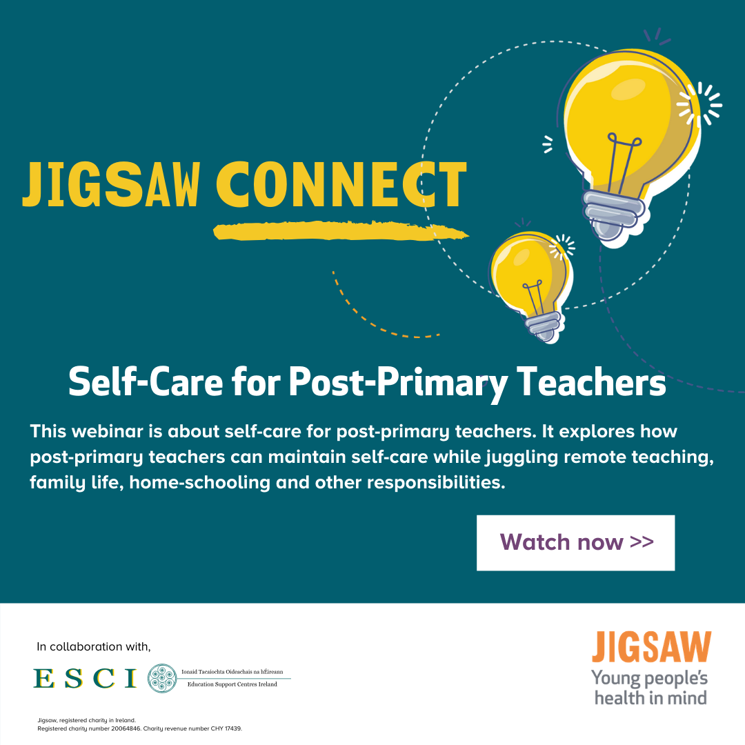 Self care for post primary teachers banner