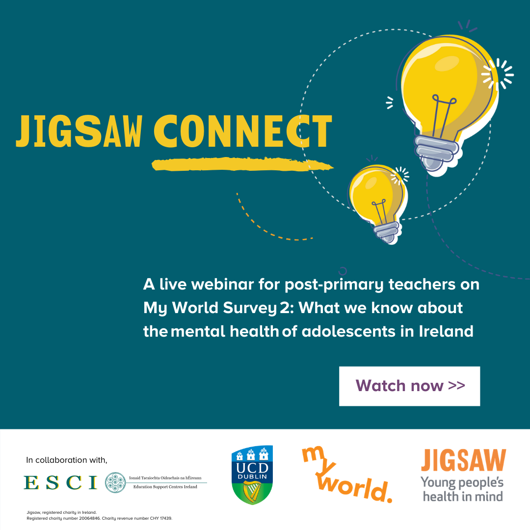 Youth Mental Health Promotions Jigsaw Connect Webinar Promo Banner version 2 for ESCI Website